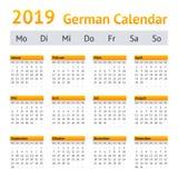 2019 niemiec kalendarz zdjęcie royalty free