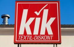 Niemiec KiK gatunku imię na sklepie Zdjęcia Stock