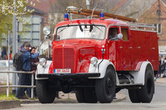 Niemiec Mercedes benz samochodu strażackiego oldtimer Zdjęcie Royalty Free