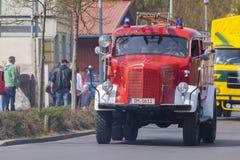 Niemiec Mercedes benz samochodu strażackiego oldtimer Obraz Stock