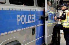 NIEMIEC MILICYJNY OFFICERS_DEUSTCHE POLIZEI Obraz Royalty Free