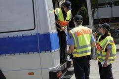 NIEMIEC MILICYJNY OFFICERS_DEUSTCHE POLIZEI Zdjęcie Stock