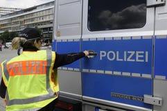 NIEMIEC MILICYJNY OFFICERS_DEUSTCHE POLIZEI Obraz Stock