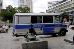NIEMIEC MILICYJNY OFFICERS_DEUSTCHE POLIZEI Fotografia Stock