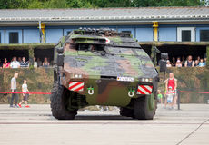 Niemiec opancerzony ambulansowy pojazd, bokser Zdjęcia Royalty Free