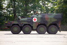 Niemiec opancerzony ambulansowy pojazd, bokser Fotografia Royalty Free