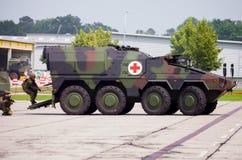 Niemiec opancerzony ambulansowy pojazd, bokser Zdjęcie Stock