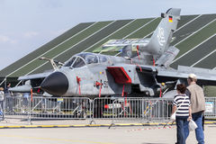 Niemiec Panavia tornada stojaki na lotnisku Obrazy Stock