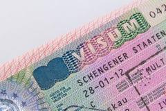 Niemiec Schengen wiza Zdjęcia Stock