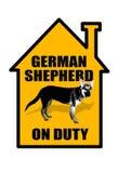 Niemiec Shepard znak. Obrazy Royalty Free