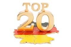 Niemiec wierzchołka 20 pojęcie, 3D rendering Obrazy Royalty Free