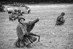 Niemieccy żołnierze od Drugi wojny światowa Fotografia Royalty Free