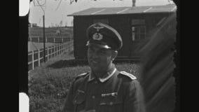 Niemieccy żołnierze Pracuje, Relaksuje I Ćwiczy,