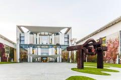 Niemiecka kancelaria jest urzędu federalnego servin (Bundeskanzleramt) Zdjęcia Stock