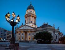 Niemiecka katedra na Gendarmenmarkt w Berlin Fotografia Royalty Free