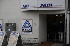 NIEMIECKA sieć domów towarowych ALDI Obrazy Royalty Free
