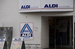 NIEMIECKA sieć domów towarowych ALDI Zdjęcie Royalty Free