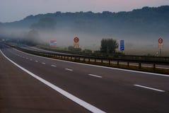 niemiecka wpływu narażenia highway długo Zdjęcia Royalty Free