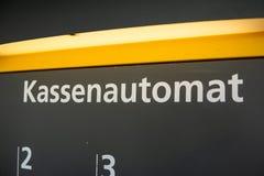 Niemiecka wynagrodzenie maszyna zdjęcia royalty free