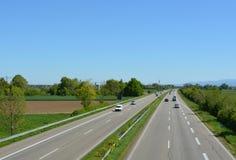Niemiecki autobahn obrazy stock