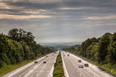 Niemiecki autostrada ruch drogowy zdjęcia stock