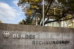 Niemiecki bundesrechnungshof w Bonn Germany zdjęcie stock