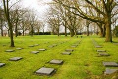 Niemiecki cmentarniany friedhof w Flanders polach menen Belgium obrazy royalty free