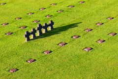 niemiecki cmentarza normandie obrazy stock