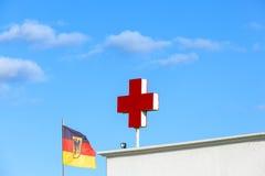 Niemiecki czerwony krzyż symbolizuje Obrazy Royalty Free