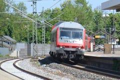 Niemiecki DB pociąg pasażerski Obrazy Royalty Free