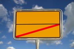 niemiecki drogowy znak obrazy stock