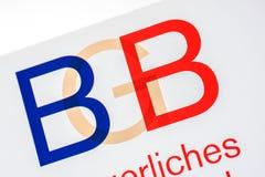 Niemiecki dziennik ustaw z listami BGB Obrazy Royalty Free