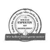 Niemiecki eksperta znaczek Zdjęcia Stock