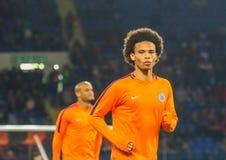 Niemiecki fachowy futbolista Leroy Zdrowy zdjęcia royalty free