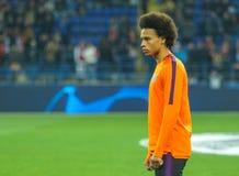 Niemiecki fachowy futbolista Leroy Zdrowy obrazy stock
