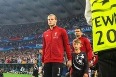 Niemiecki fachowy futbolista Loris Karius fotografia royalty free