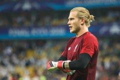 Niemiecki fachowy futbolista Loris Karius zdjęcie stock