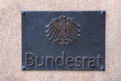 Niemiecki federacyjny rada znak zdjęcia royalty free