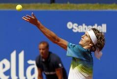 Niemiecki gracz w tenisa Aleksander Zverev jr Fotografia Stock