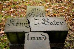 Niemiecki grobowa krzyż Fotografia Royalty Free