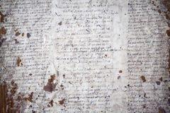 Niemiecki handwriting na grungy starym dokumencie obraz stock