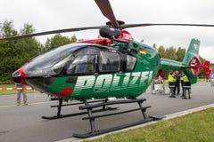 Niemiecki helikopter policyjny Obrazy Stock