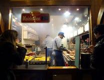 Niemiecki jedzenie stojak zdjęcie stock