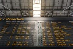Niemiecki Lotniskowy Abflug odjazdów rozkładu zajęć rozkładu znak Informa Zdjęcie Stock