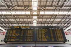 Niemiecki Lotniskowy Abflug odjazdów rozkładu zajęć rozkładu znak Informa Fotografia Royalty Free