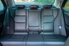 Niemiecki luksusowy limuzyny wnętrze - sedan, skór siedzenia Fotografia Stock