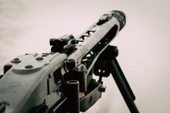 Niemiecki maszynowego pistoletu mg-42 zakończenie Obrazy Royalty Free