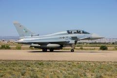 Niemiecki militarny Eurofighter Typhoon myśliwa samolot Obrazy Royalty Free