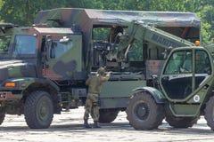 Niemiecki militarny forklift FUG 4,0 Zdjęcie Stock