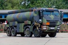 Niemiecki militarny Iveco 8x8 tankowiec Zdjęcia Stock